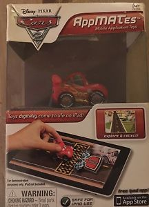 Disney Pixar CARS 2 AppMates LIGHTNING McQUEEN Mobile App Toy iPad New