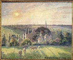 Camille Pissarro. Paysage à Eragnyen, 1897. Musée d'Orsay, Paris, France