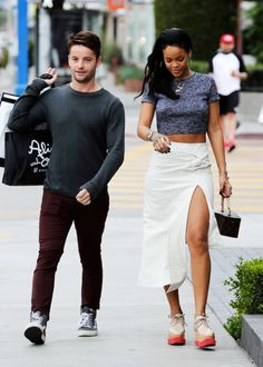 """Rihanna shopping at Alice and Olivia in Los Angeles before heading for lunch in Beverly Hills. """