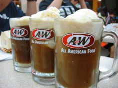 A & W Rootbeer Floats