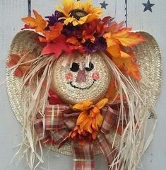 Celebrate Fall with these cheap and easy DIY Fall wreaths. Many of these wreaths can be made in under an hour with minimal supplies required and most of the materials needed can be found at Dollar Tree! What makes a lot of these wreaths budget-friendly is Fall Crafts, Holiday Crafts, Christmas Diy, Christmas Wreaths, Christmas Decorations, Diy Crafts, Christmas Quotes, Easy Fall Wreaths, Diy Fall Wreath