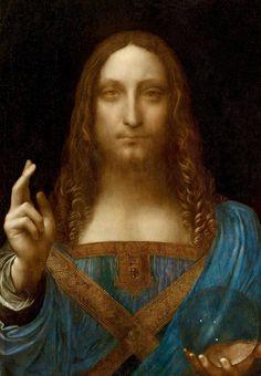 History Of Art Daily — Leonardo da Vinci, Salvator Mundi, circa 1500, oil...