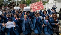 Pretoria Girls High: A protest against sacrificed cultures and identities. Pretoria Girls High: A protest against sacrificed cultures and identities Political Leaders, Girl Standing, Pretoria, High School Girls, Identity, Culture, Education, Onderwijs, Personal Identity