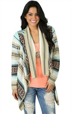 Deb Shops Southwestern Print Cozy #Sweater $18.13