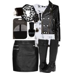 """""""'Punk rock' outfit"""" by inthestyleofnina on Polyvore"""
