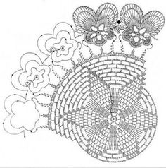Pansy Circle Crochet Doily Free Pattern. More Patterns Like This!