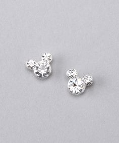 Sterling Silver April Mickey Earrings | zulily