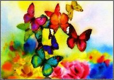 butterfly painterly greeting card