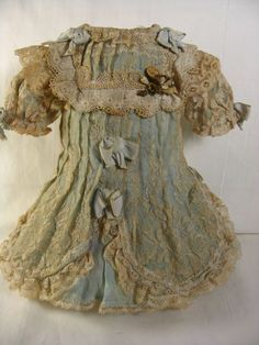 Outstanding French Cut Outfit for an Antique Doll from fancyandfine on Ruby Lane