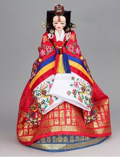 Younji Doll Red Royal Queen's Dress Hwal OT Korean Traditional Collection Doll   eBay