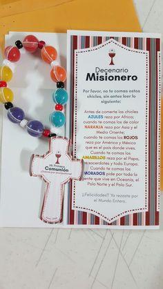 Cruz misionera goma de mascar