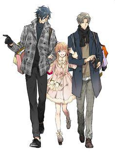 Hasebe x Saniwa Manga Drawing, Manga Art, Anime Manga, Anime Art, Anime Siblings, Anime Couples, Touken Ranbu, Anime People, Anime Guys