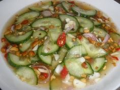 How to make Cucumber Sauce Cambodian Food  I did not grow up with this, and my mom's justification is that she only cooked what she liked. Lol. I was deprived!