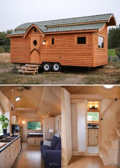 Damselfly tiny house on wheels designed by zyl vardos tiny house cabin, tiny house design Tiny House 2 Bedroom, Buy A Tiny House, Building A Tiny House, Tiny House Cabin, Tiny House Living, Tiny House Design, Tiny House On Wheels, Living Room, Tiny House Movement