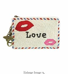 Mary Frances Sealed With A Kiss Coin Purse