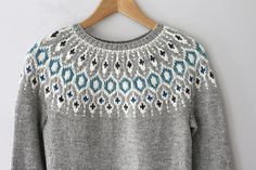 Ravelry: Telja pattern by Jennifer Steingass Jumper Patterns, Knitting Patterns, Icelandic Sweaters, I Cord, Fair Isle Pattern, Knit In The Round, Fair Isle Knitting, Alpaca Wool, Knitwear