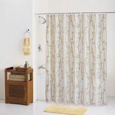 $12  Walmart  ***  PEVA Shower Curtain, Bamboo Garden