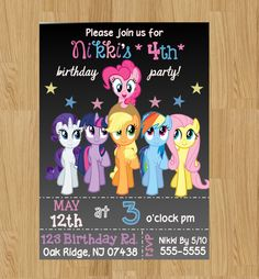 A personal favorite from my Etsy shop https://www.etsy.com/listing/262599982/my-little-pony-invitation-my-little-pony
