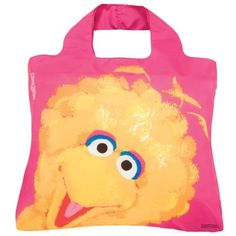 Envirosax Sesame Street Kids Reusable Shopping Bag, Big Bird Pink
