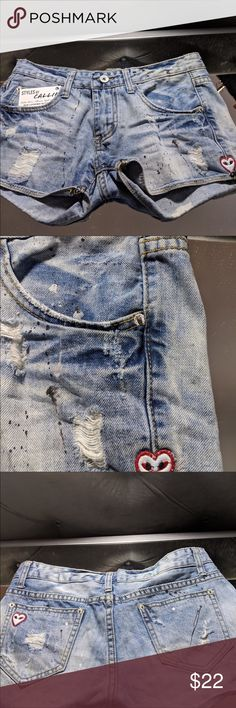 ❤️NWT Girls Size 2T 4T Cuffed Shorts Pockets Geometric Pattern Tan 100/% Cotton
