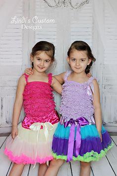 Set of 2 Princess Twirling Ruffle Petticoats by sweethearttutus #modeltwins