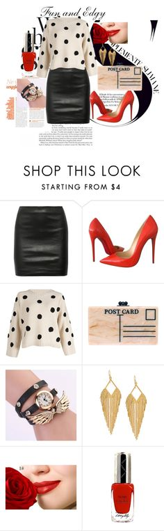 """Fun and Edgy"" by sally-morin ❤ liked on Polyvore featuring The Row, Christian Louboutin, Edie Parker, Panacea and By Terry"