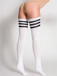 0f22a1150 American Apparel - Stripe Thigh-High Socks. I have these in green Cute Socks