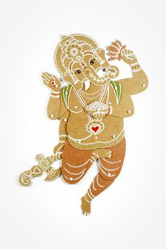 Ganesha the Remover of Obstacles Articulated Paper by dubrovskaya