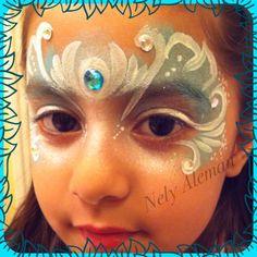 Face Paint - Frozen Blue Mask