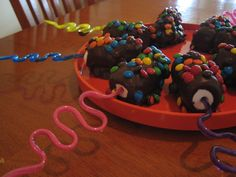 Love it! Use straws as sticks, marshmallows dipped in whatever you like. Could decorate for whatever holiday too!