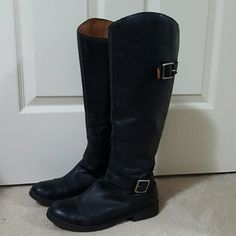 Lucky Brand riding boot Moto style riding boot, knee high, zipper on ankle Lucky Brand Shoes Combat & Moto Boots