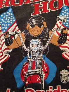 Vtg Mint Rare Early 70 80s Harley Davidson Road Hog tee t shirt Tank Top Pig L #HarleyDavidson #GraphicTee