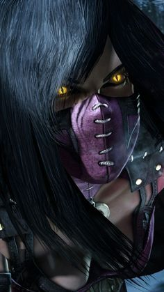 Image discovered by Jessica. Find images and videos about mortal kombat, mileena and mortalkombat on We Heart It - the app to get lost in what you love. Art Mortal Kombat, Mortal Kombat Games, Video Game Characters, Female Characters, Video Game Art, Video Games, Kung Jin, Mortal Kombat Costumes, Mononoke Cosplay