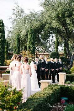 Ceremony Line Up at Regale Winery