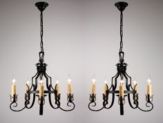 A wrought iron chandelier is a distinctive decorative piece that gives a room an old or rustic ambiance. Because it is a very masculine type of decorator piece Wrought Iron Chandeliers, Wood Chandelier, Antique Chandelier, Buy Fabric, Draped Fabric, Home Interior, Ceiling Lights, Rustic, Antiques