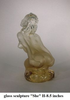 """Glass sculpture """"The creation of a new life,"""" she"""
