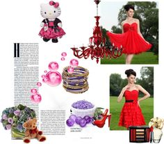 """""""Red Princess Sweetheart Prom / Homecoming Dress Beading Mini-length Oragnza Cocktail Dress"""" by prettydressesforyou ❤ liked on Polyvore"""