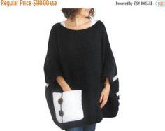 20 % WINTER SALE Plus Größe über Größe Pullover dunkel von afra