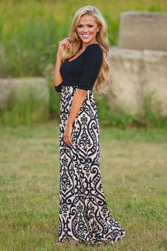 True To Your Heart Maxi Dress from Closet Candy Boutique