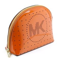 Michael Kors Burnt Orange Leather Signature Large Cosmetic Case Michael Kors. $69.99. Save 20%!