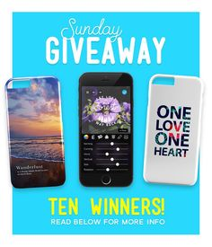 Happy Sunday! Were giving away 3 gorgeous #PicLab-designed phone cases from @grandwall.co - as well as 7 free copies of PicLab HD (@PicLab_HD)! - Entering is easy. Simply tag 3-5 friends below and follow these accounts: - @piclab @grandwall.co @piclab_hd @vidlabapp - Well choose ten random winners tomorrow and announce them in a caption :)