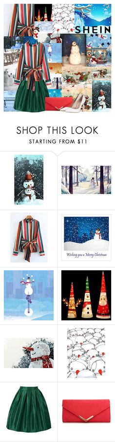 """☃️Snowball Fight☃️"" by kailey-muter ❤ liked on Polyvore featuring Candy Cane Lane, WithChic, Lipsy, Gianvito Rossi, snow and shein"