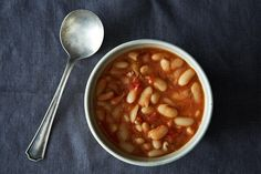 Brothy, Garlicky Beans recipe on Food52