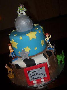 toy story birthday Cake. I like this for Benjamin 1st Birthday.