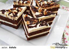 Ořechové trojúhelníky recept - TopRecepty.cz Tiramisu, Rum, Food And Drink, Treats, Candy, Chocolate, Sweet, Ethnic Recipes, Desserts