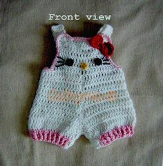 Baby girl Hello Kitty overall