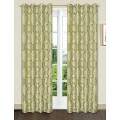 Dainty Home Monaco Damask Room Darkening Grommet Curtain Panel Elegant Curtains, Colorful Curtains, Grommet Curtains, Drapes Curtains, Sage Living Room, Polka Dot Room, Extra Wide Curtains, Striped Room, Blackout Panels