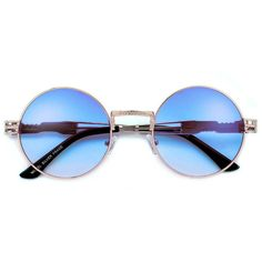 53mm Round Artistry Crafted Thick Temple Boho Sunnies ( 5) ❤ liked on  Polyvore featuring accessories, eyewear, sunglasses, glasses, oculos, ... c4a285662c