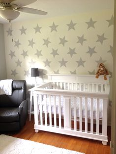 Star Stencil Stencils Hand Painted Walls Cot In Style Your Child