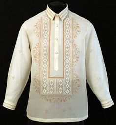 Piña-Jusi Barong Tagalog A handsome blend of hand painted design and embroidery to compliment this versatile Barong Tagalog style. Expertly tailored in the finest Jusi fabric, our premium Barong Tagalog provide only the best in quality and construction. Wedding Dress Men, Wedding Men, Wedding Suits, Wedding Ideas, Wedding Entourage, Wedding Inspiration, Wedding Attire, Wedding Themes, Wedding Stuff